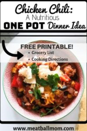 This One Pot Chicken Chili Dinner Idea is a Dinner Trifecta. It checks all the important boxes of a great meal busy moms can serve their families! #chickenrecipes #chickendinner #chickendinnerrecipes #dinnerrecipes #dinnerideas #easydinnerrecipes #healthydinner #chilirecipe #onepot #onepotmeals