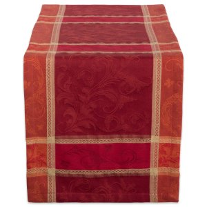 red-plaid-table-runner