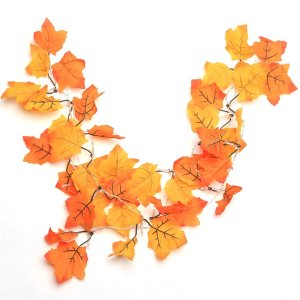 lighted fall garland