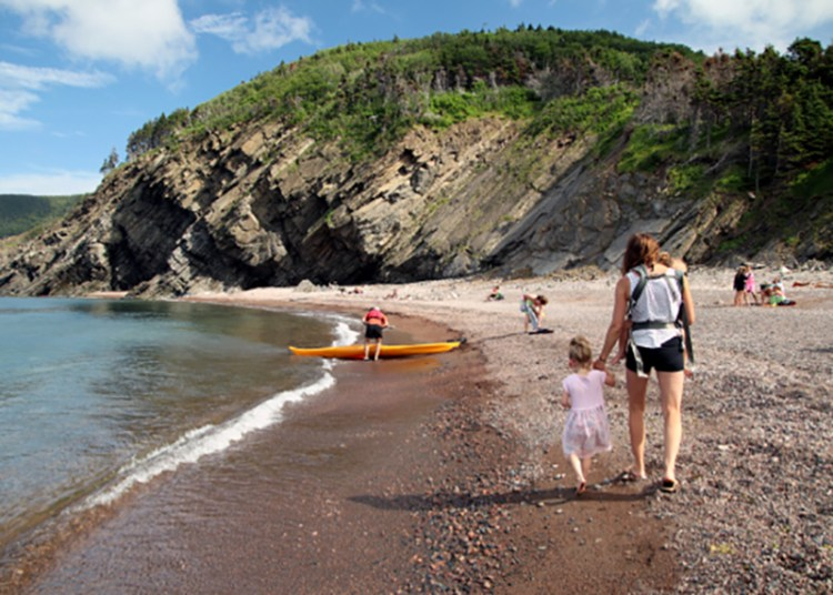 meat cove campground beach