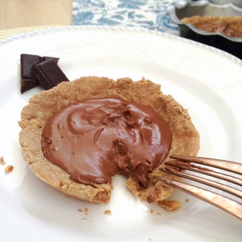Decadent low carb Chocolate Peanut Butter Pie - perfect for that keto splurge!