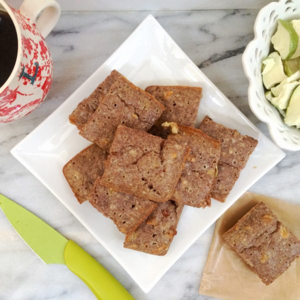 Low Carb Apple Cinnamon Breakfast Bars   Keto, LCHF and super delicious