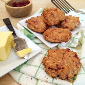 Cranberry Low Carb Scones | a delicious sugar free option for your keto and LCHF Thanksgiving!