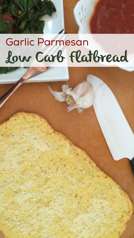 Garlic Parmesan Low Carb Flatbread   Cheesy and delicious, low carb, keto, LCHF and atkins friendly!