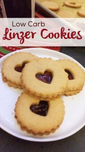 Low Carb Linzer Cookies | a sugar free, keto friendly version of this classic Christmas cookie!