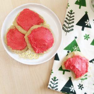 Lofthouse Style Low Carb Vegan Sugar Cookies | a super delicious, keto friendly, sugar free treat!