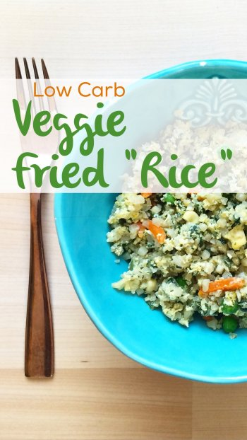 "Vegetarian Low Carb Fried ""Rice"" 