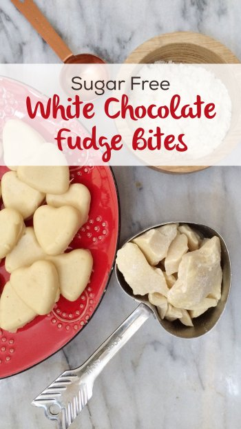 Sugar Free White Chocolate Fudge | These delicious low carb fat bombs are delicious, and even have protein!