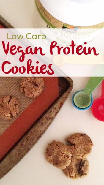 Low Carb Vegan Protein Cookies | Grain free, gluten free, sugar free & keto friendly protein cookies for everyone!