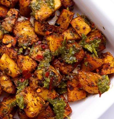 Vegan Keto Chimichurri Roasted Celeriac