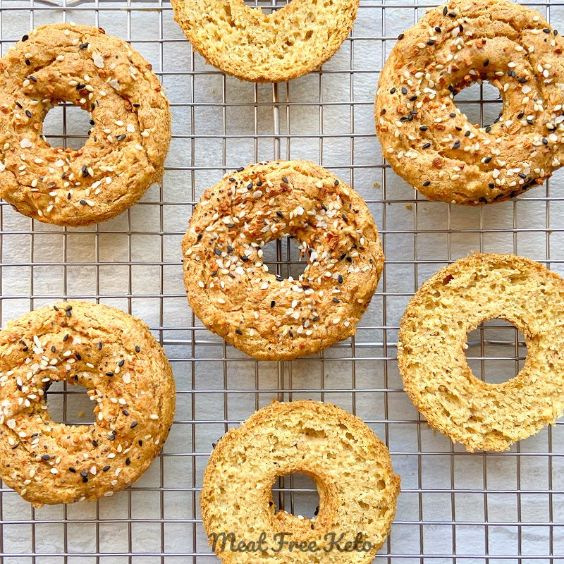 Flax-Free Vegan Keto Bagels (gluten-free-, soy-free, nut-free, coconut-free)