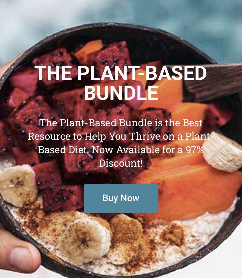 It's BACK: Plant-Based Bundle: 80+ (!!!) Vegan Meal Plans, Nutrition Guide & Fitness Programs