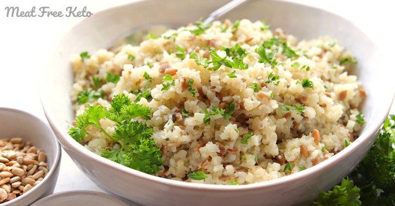 Vegan Keto Instant Pot Pilaf (gluten-free, paleo, nut-free)