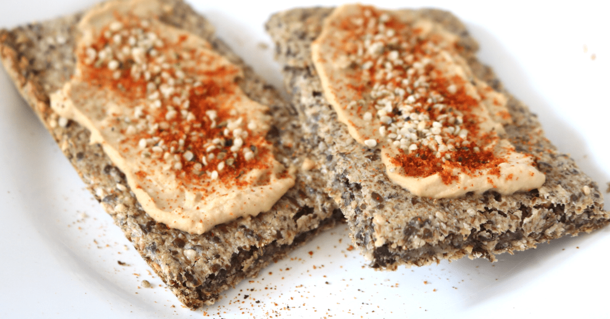 Low Carb Crispbread (Vegan, Gluten Free, Nut Free, Keto-Friendly)
