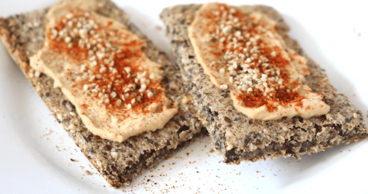 Low Carb Crispbread (Vegan, Gluten Free, Nut Free, Keto-Friendly)