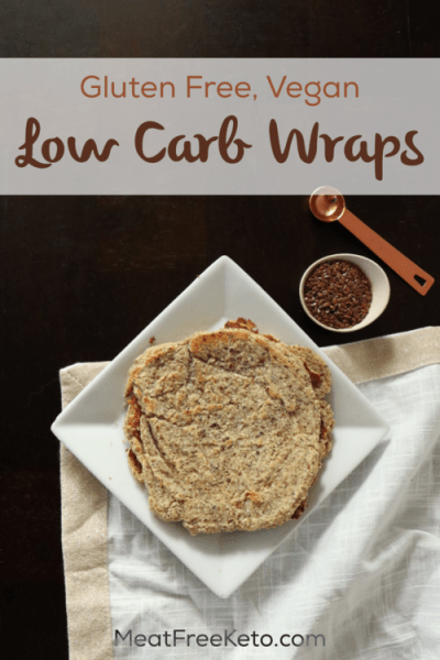 Vegan Keto Wraps (gluten free, nut free) - An easy and delicious, bendable low carb wrap!