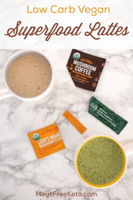 Low Carb Vegan Superfood Lattes | Meat Free Keto - Start your mornings off right with these decadent and sugar free superfood lattes with a nutritional powerhouse surprise ingredient!