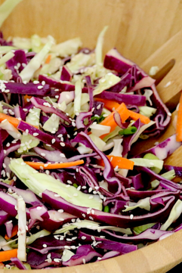 Low Carb Cabbage Slaw | Meat Free Keto - This tangy low carb vegan cabbage slaw gets it's flavor from tamari and ginger, making it a delicious and unique addition to any bbq or picnic!Low Carb Cabbage Slaw | Meat Free Keto - This tangy low carb vegan cabbage slaw gets it's flavor from tamari and ginger, making it a delicious and unique addition to any bbq or picnic!