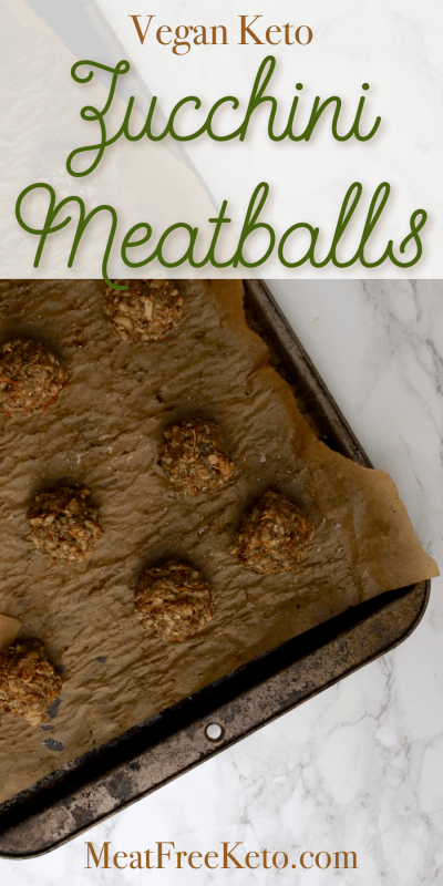 Vegan Keto Zucchini Meatballs | MeatFreeKeto.com - These vegan keto zucchini meatballs are a delicious and easy way to use up some of that summer squash you've got sitting in your fridge.