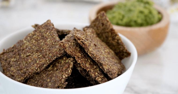 Vegan Keto Flax Crackers