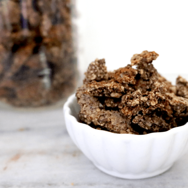 Vegan Keto Granola | Meat Free Keto - This low carb vegan granola is gluten free, nut free, grain free and super easy to make!