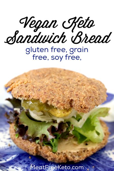 Low Carb Vegan Sandwich Bread | Meat Free Keto - a gluten free, grain free, keto roll recipe that's so tasty you won't miss real bread!