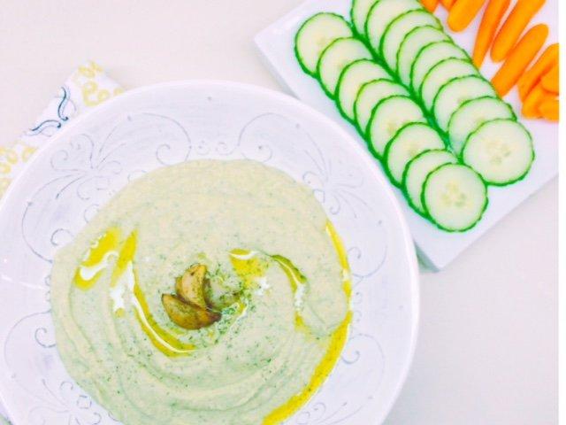 Cucumber Dill Low Carb Hummus