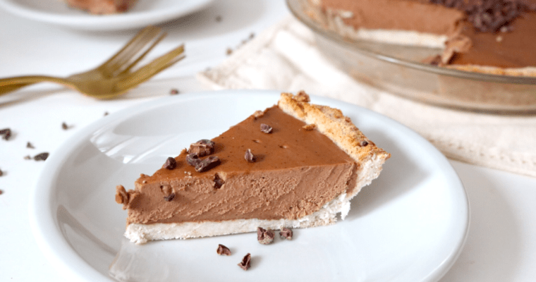Vegan Keto Chocolate Almond Butter Pie