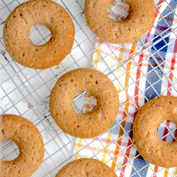 Vegan Keto Cider Doughnuts (gluten-free, nut-free, soy-free)