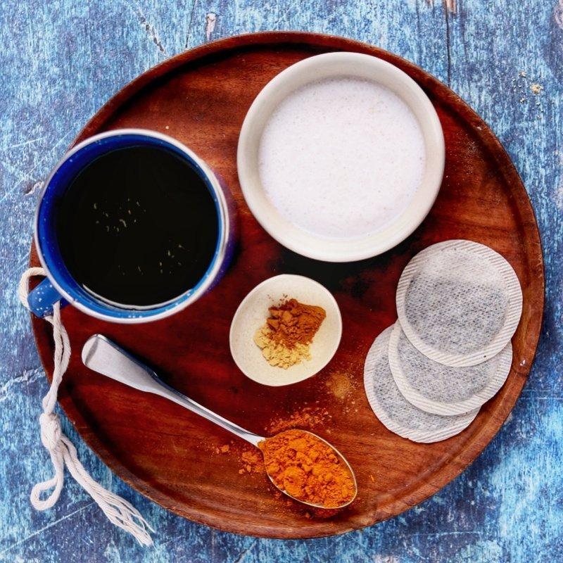 Vegan Keto Golden Milk Tea Latte (dairy-free)   MeatFreeKeto.com