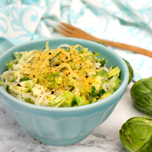 Low Carb Vegan Creamy Brussels Sprouts Spaghetti