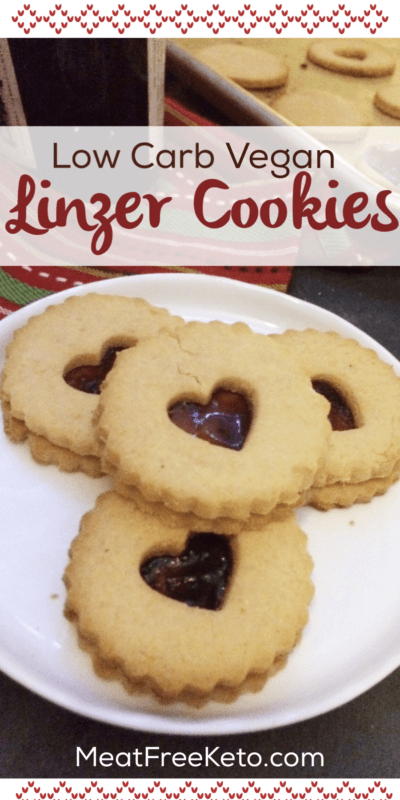 low carb vegan linzer cookies a sugar free keto friendly version of this classic