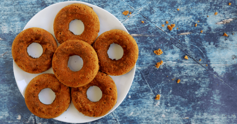 Pumpkin Spice Vegan Keto Doughnuts (paleo, nut free)