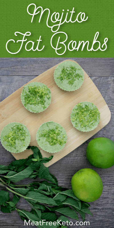 plant based keto mojito fat bombs
