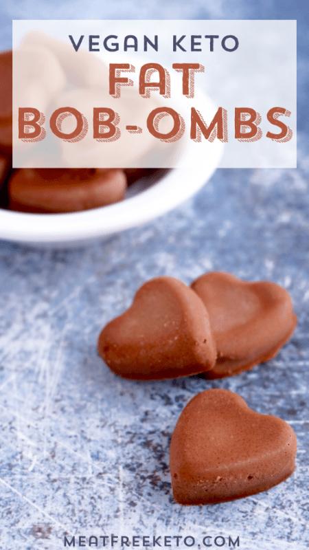 heart shaped vegan keto fat bombs pinterest image