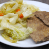 """Gluten Free Low Carb Vegan Corned """"Beef"""" & Cabbage   Meat Free Keto - This corned tempeh is great with cabbage or in a gluten free vegan reuben!"""