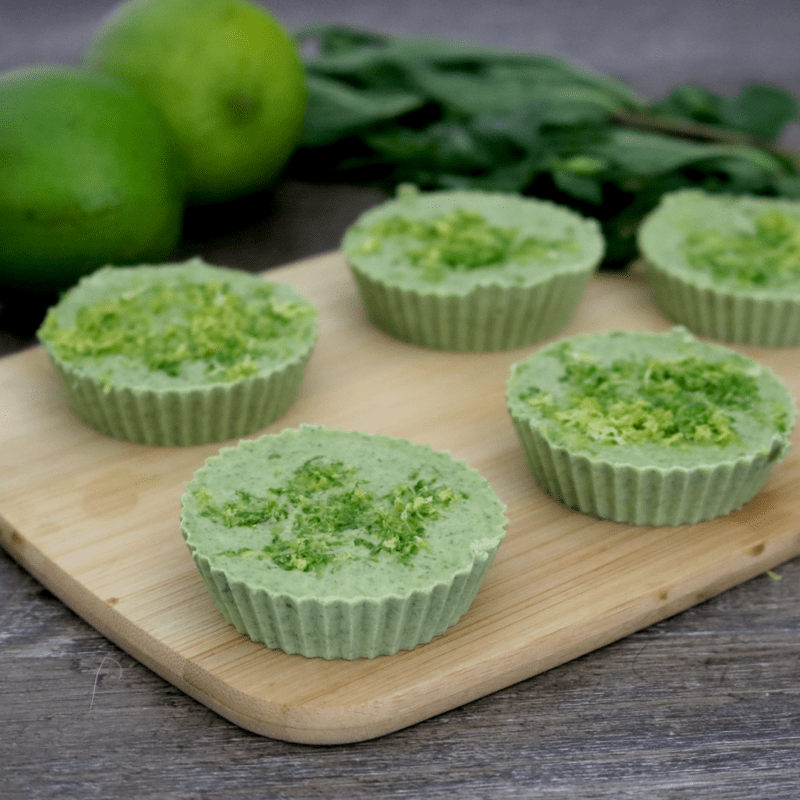 Vegan Mojito Fat Bombs (nut free, soy free, sugar free)