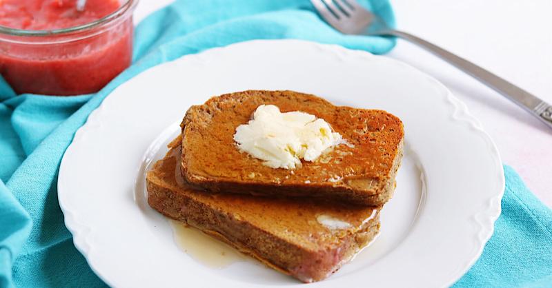 Vegan Keto French Toast (gluten-free, soy-free, egg-free)