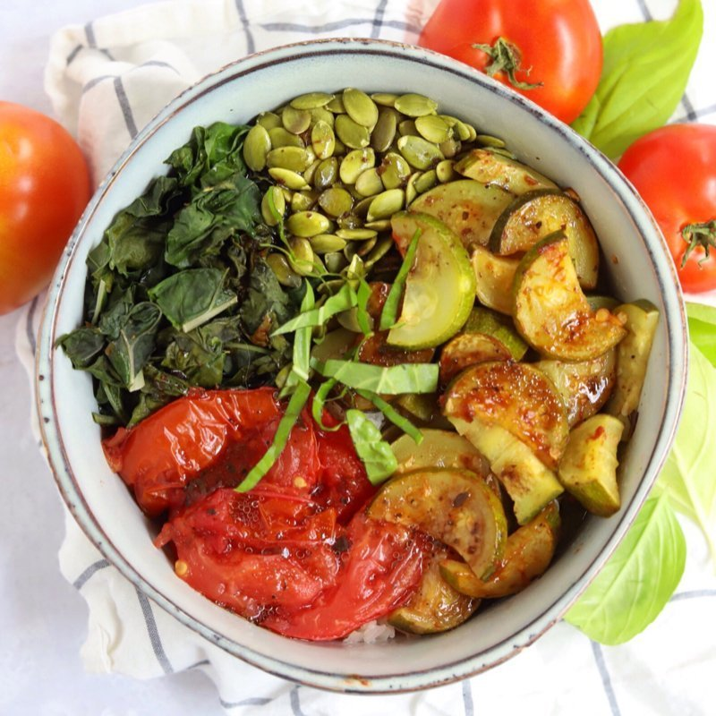 Vegan Keto Summer Balance Bowl