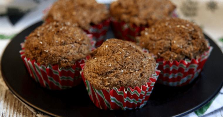 Vegan Keto Gingerbread Muffins (gluten-free, nut-free, soy-free)