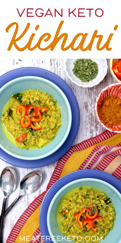 Vegan Keto Kichari | MeatFreeKeto.com | Low Carb Ayurvedic Recipe