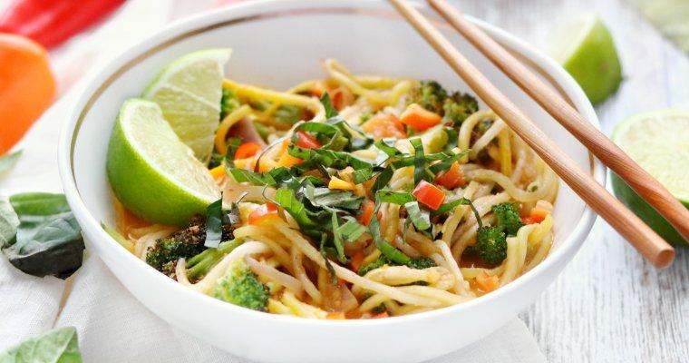 Low Carb Vegan Thai Coconut Noodle Bowl