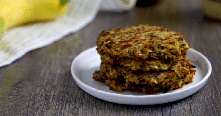Low Carb Vegan Mustard Dill Zucchini Cakes (gluten-free, coconut-free, nut-free, soy-free)