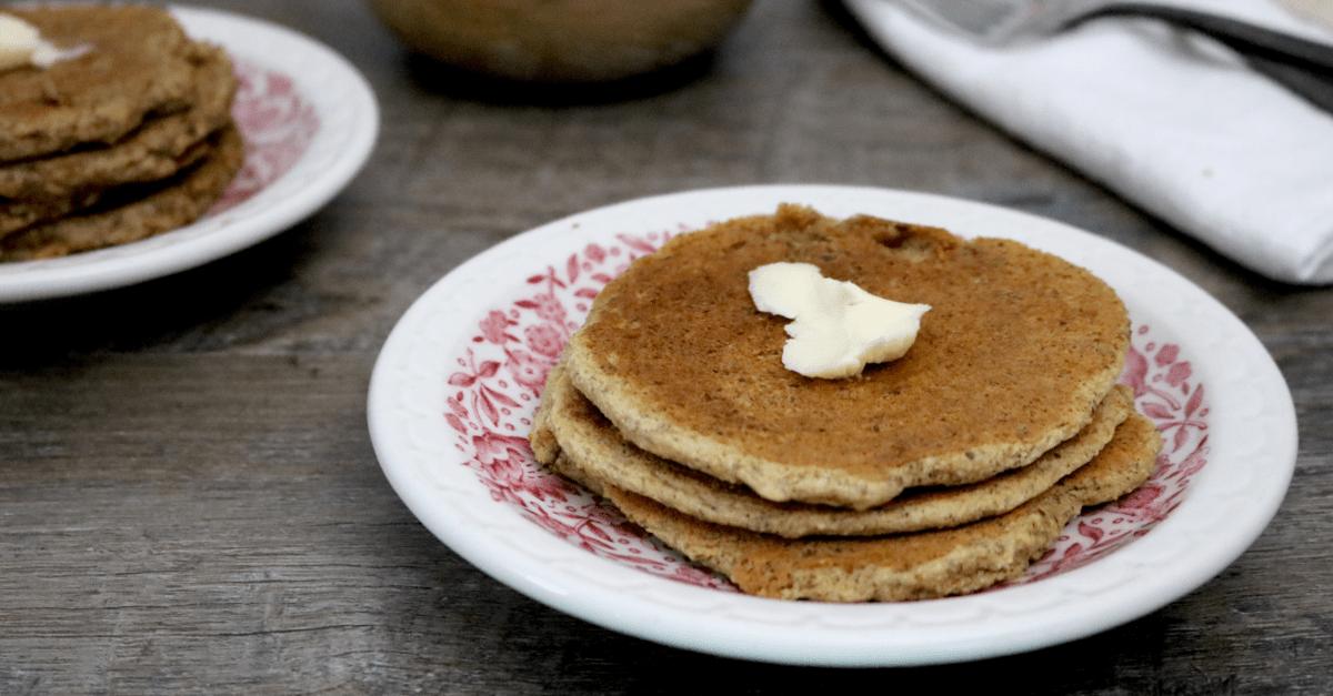 Low Carb Vegan Pancakes (gluten free, egg free, dairy free, soy free)