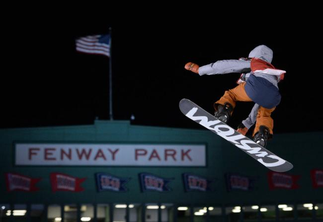 U.S. Snowboarder Julia Marino took home a win for the ladies. Photo Credit: Christopher Evans from Boston Herald