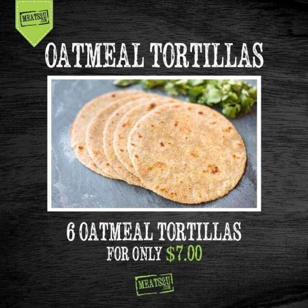 Oatmeal Tortilla 6 count