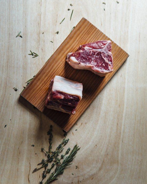 2 (8oz) Lamb Loin Porterhouse Chop-217