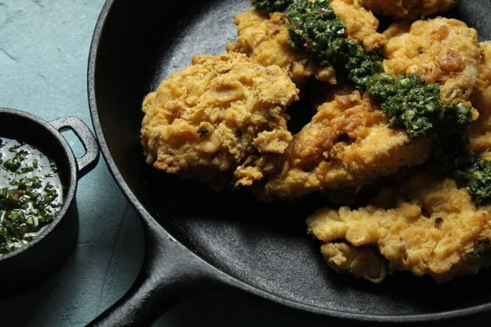 Chicken Fried Cauliflower Steak