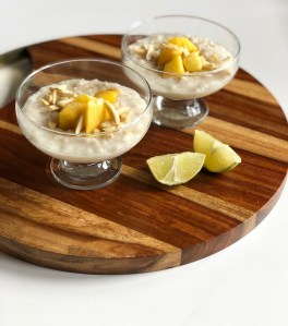 Coconut Lime Rice Pudding with Mango