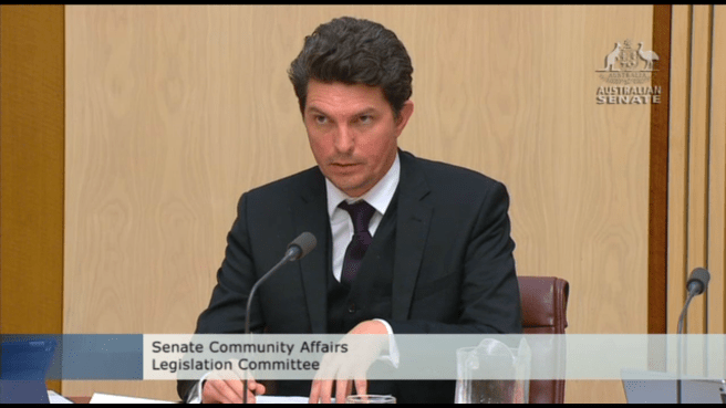 Senator Ludlam at Senate Estimates hearing